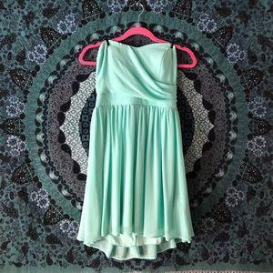 Guess pale mint strapless dress 👗